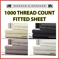 NEW MORGAN AND SPENCER 1000 THREAD COUNT   FITTED SHEET  DOUBLE QUEEN KING SKING