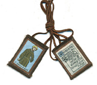 Traditional Our Lady of Mt. Carmel Brown Scapular w/ St. Francis Image
