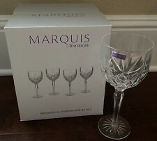 New listing MARQUIS by Waterford Brookside All Purpose Wine Glasses Set of 4 8oz NEW