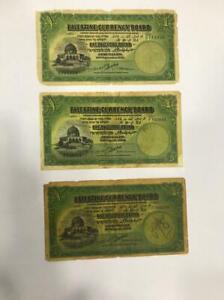 Palestine Currency Board 1 X 3 Pound 1929 / 1939