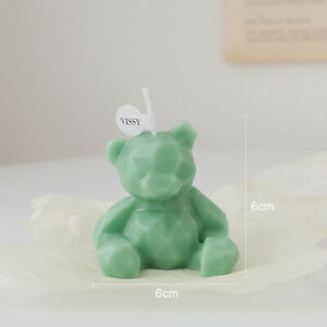 Cute Bear Candle Photo Props Home Decor Modeling Soy Wax Scented