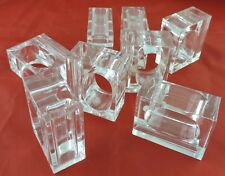 New listing Napkin Rings/Small Bud Vase In One Clear Lucite Set 8 Two'S Company