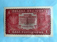 Banknote - 1919 Poland - Polska & Krajowa  - 1 Marka Polska