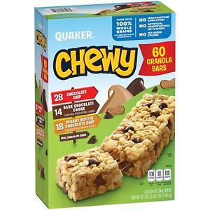Quaker Chewy Granola Bars, Variety Pack (60 pk.)