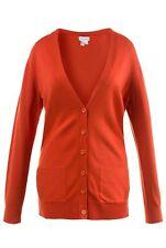 Gina Laura s 38 Cardigan Strickjacke Rost orange Langarm