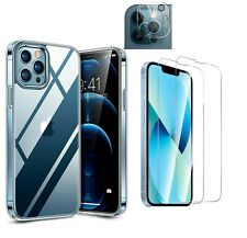 iPhone 13 PRO MAX 13 Mini Hülle 2x Panzerfolie Schutzglas 9H Kamera transparent