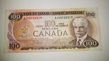 BANK OF CANADA 1975 $ 100, CANADIAN NOTE 4 DIGET  NOTE