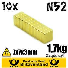 10x sulla bacheca al neodimio-Magneti 7x7x3mm n52-parallelepipedo cartolina foto Magnetico magneti