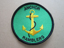 Anchor Ramblers Walking Hiking Cloth Patch Badge (L2K)