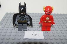 Lego DC Minifigures / Minifigs THE FLASH - GREY + BLACK BATMAN VGC (i31) GENUINE