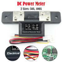 50A /100A Voltage DC Voltmeter Current Power Meter Energy tester Charger Ammeter