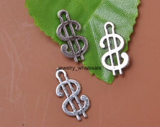30pcs Tibetan Silver Money Dollar Sign Charm Pendant 17x10MM JW72