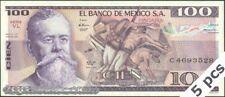 TWN - MEXICO 74c - 100 Pesos 25/3/1982 UNC Serie VL - Prefix C DEALERS x 5