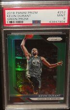 PSA 9 MINT 9 - Kevin Durant 2018 Prizm Green Card Golden State Warriors