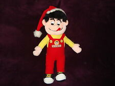 "Krispy Kernels Plush Mighty Star Boy doll wearing santa hat 19"" tall"