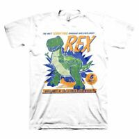 Men's Toy Story 4 Rex the Dinosaur White T-Shirt - Unisex Disney Adult Tee
