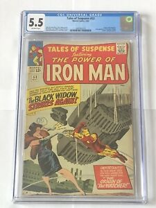 CGC 5.5 - Tales of Suspense #53 - 2nd Appearance of Black Widow. 1964.