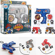 4D Beyblade Metal Master Fusion Top Rapidity Fight Rare Launcher Grip Lot Set