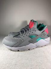 buy online a7fe3 eafe4 Nike Air Huarache Run 318429 053 Wolfe Grey Sunset Pulse  Kinetic Green SZ  10