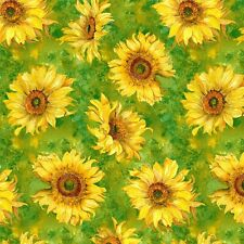 """""""Slice of Sunshine"""" Sunflowers by Wilmington Prints-BTY - Sunflowers"""