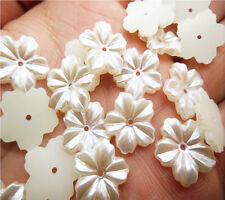 NEW DIY 50PCS 12MM size Beige Flower Glossy resin Scrapbook Craft Flatback PICK