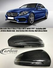 Mercedes Benz W205 - W222 2014 On Carbon Fibre Mirror Covers With LED - LH Drive
