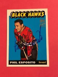 Phil Esposito 01-02 Topps Archives RARE Hard Signed AUTO