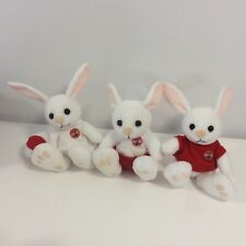 Lot of 3 Coca Cola Coke Rabit Plush Dolls - Excellent Condition