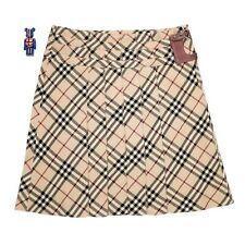 Authentic Burberry Nova Check Pleated Nova Check Skirt Vintage