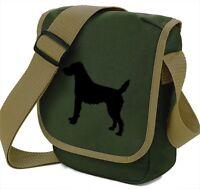 Patterdale Terrier Silhouette (Full Body) Mini Reporter Bag Dog Walker Gift