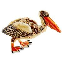 Pelican Bejeweled Articulated Enamel Christmas Tree Ornament Decoration