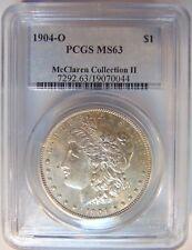 1904 O Silver Morgan Dollar PCGS MS63 McClaren Hoard Collection II Pedigree Coin