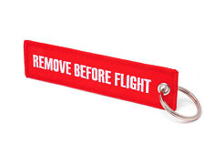 REMOVE BEFORE FLIGHT - Schlüsselanhänger - Rot / Weisse Schrift