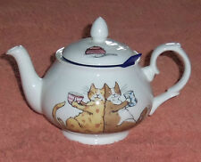 Whittard Chelsea Tea Pot ' Sharing a Cuppa ' Anita Jeram 2005 Chatsford Strainer