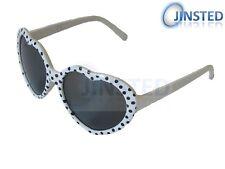 High Quality Childrens White Frame Polka Dot Lolita Heart Shape Sunglasses KH003