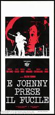 E JOHNNY PRESE IL FUCILE LOCANDINA CINEMA USA 1971 GOT HIS GUN PLAYBILL POSTER