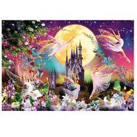 Adults Kids Puzzles Landscape Series 234Piece Large Puzzle Game-Moonlight Castle
