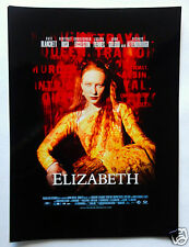 ELIZABETH Movie Poster PHOTOGRAPH Cate Blanchett as Queen of England, Glossy Pic