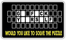"""Go F*** Yourself Word Puzzle Adult Funny Car Bumper Vinyl Sticker Decal 6""""X3.5"""""""