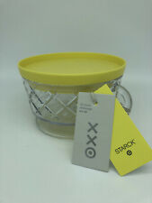 PHILIPPE STARCK for TARGET - 12 Oz PLASTIC SNACK CUP BOWL w YELLOW LID NEW