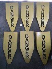 Danger Metal Street Signs Universal Studio Prop Jurassic Park Halloween Lot of 6