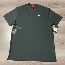 NIKE TIGER WOODS SS MOCK GOLF SHIRT SIZE LARGE BLACK TW POLO CT6078-070