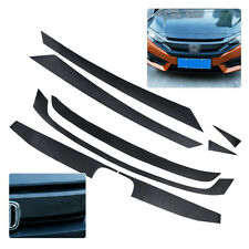 Carbon Fiber Texture Bumper Grille Decal Sticker Protector For Honda Civic 2016