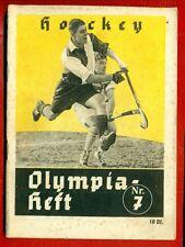 GERMANY SPORT OLYMPICS 1936 HOCKEY VINTAGE MAGAZINE # 7 3916