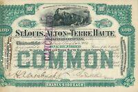 1891 USA: St. Louis, Alton and Terre Haute Railroad Co., G. Foster Peabody