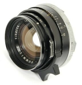Leica SUMMILUX 1:1.4/35 pre ASPH 35mm F1.4 Lens made by LEITZ CANADA in 1972