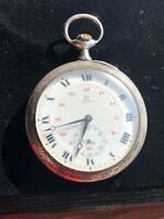 monte chronomètre gousset oméga argent massif OMEGA Watch rare fonctionne