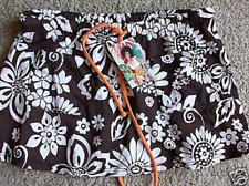 NEW RAISINS BROWN FLORAL SKIRT COVER UP WOMENS S SWIM COVER UP SKIRT WOMENS S