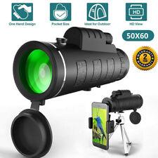 Télescope Monoculaire 50 x 60 Zoom HD Jumelle Vision Nocturne Téléphone+Trépied