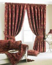 Rideaux et cantonnières rouge à motif Floral polyester pour la maison
